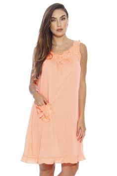 Dreamcrest Nightgown / Women Sleepwear / Womans Pajamas (Bright Orange, Small, Gowns)