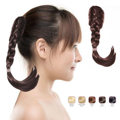 Buy 2 Hollywood Hair French Plat Hair Piece and get 1 Fish Tail Braid Headband - Dark Brown (Pack of 3)