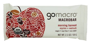 Go Macro GoMacro - Organic MacroBar Morning Harvest Apples & Walnuts - 2.1 oz(pack of 12)