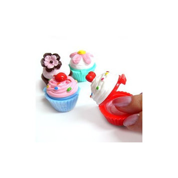 Lip Gloss Sugar and Spice Raspbery Fluff in Cupcake Container By NPW