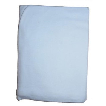 Bambini 3200B Blue Interlock Receiving Blanket
