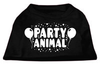 Ahi Party Animal Screen Print Shirt Black Lg (14)