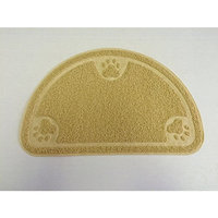 Cat Litter Trapping Mats. For Cat Litter Boxes [Half Moon - Beige]