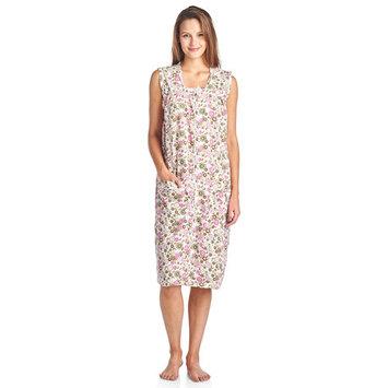 Casual Nights Women's Zip Up Sleeveless Duster Robe