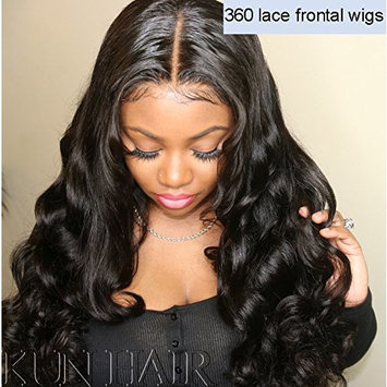 360 Lace Wigs Pre Plucked Human Hair Wigs for Women 150% Density Loose Wave 360 Frontal Wigs for High Ponytail and Updo Brazilian Remy Bouncy Wave Human Wigs with Baby Hair Natural Color 14 inches