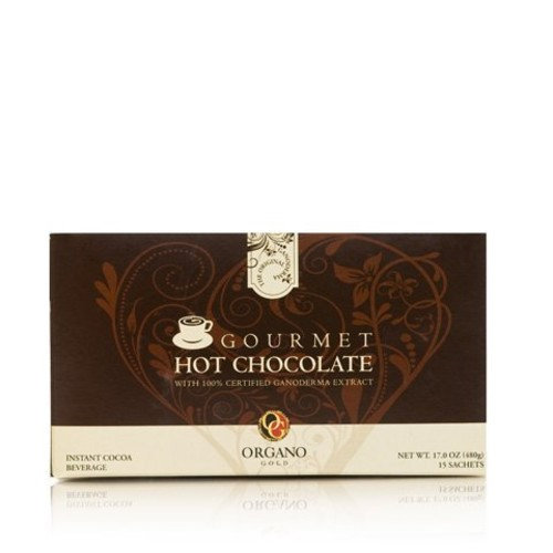 Organo Gold Gourmet Hot Chocolate,17OZ,15 Sachets