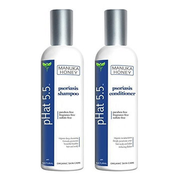 Psoriasis Shampoo and Conditioner Set by pHat 5.5 (4 oz) by pHat 5.5