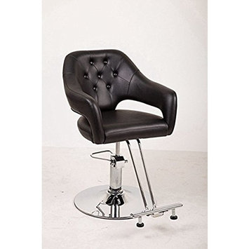 Funnylife Vintage PU Material Barber Chair with Footrest Styling Salon Chair