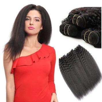 Bright Star SX-VISION FORCE TR Indian Hair Yaki Straight Hair Extension 100g/bundle Human Hair Weft weave Virgin Remy Hair Bundles Natural Black