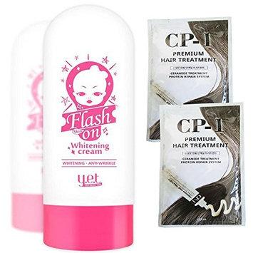 YET Flash Skin on Whitening Cream 75g Quick Whitening & Brightening with YET Waterproof Gel Pencil Eye Liner Korea Cosmetic