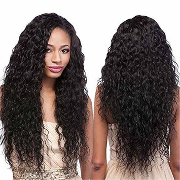 Echo Beauty Top 8A Peruvian Virgin Human Hair Lace Front Wigs for Black Women Curly Wave Handmade Human Hair Wigs Natural Color Medium Cap 150% Density 20inch