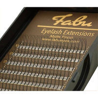Fabu Eyelash Extensions Russian Volume 3D Fans, Thickness/Diameter 0.10, D curl, one length per tray, 8mm | 9mm | 10mm | 11mm | 12mm | 13mm | 14mm | 15mm | 16mm