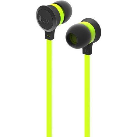 iLuv IEP334GRNN Neon Sound Earphones Accs