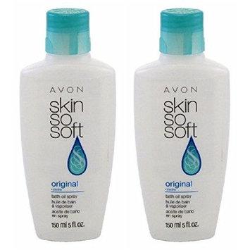 Avon Skin So Soft Original Bath Oil 5 Oz. Bottle - No Pump Included - Set Of 2