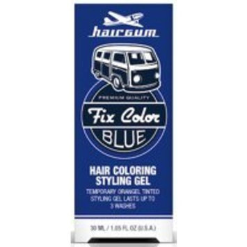 Hairgum Fix Color Temporary Hair Coloring Styling Gel - Blue 1 oz.