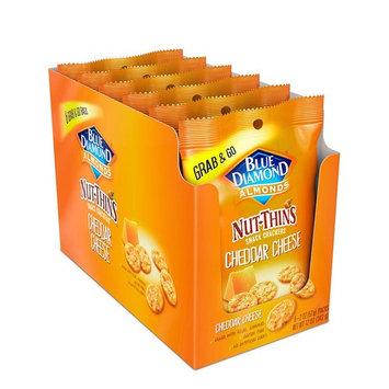Blue Diamond Almond Nut Thins Cracker Crisps, Cheddar Cheese, 2oz, Single Serve, 6 Count [Cheddar Cheese]