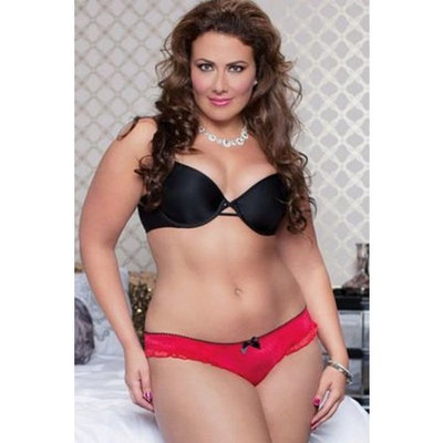 Red Crotchless Diva Panty 9750X Seven 'til Midnight Red