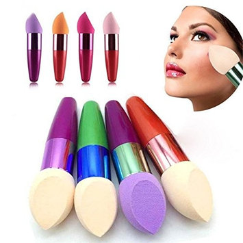 1 Piece Random Color Soft Facial Sponge Egg Puff Makeup Brush Set Powder Blender Eyeshadow Concealer Cosmetic Tool Professional Natural Beauty Palettes Significant Popular Eyes Face Hair Kit