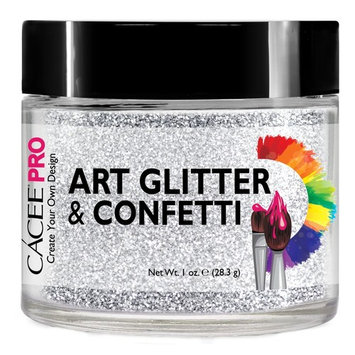 Nail Glitter 1 oz Superfine Silver, #61 by Cacee Art & Confetti (Holographic, Silver, Gold, Chunk, Irridescent, Dust, Unicorn) for Nail Art, Cosmetic, Festivals, and Party