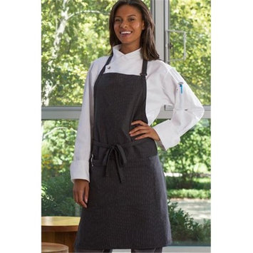 Adjustable Butcher Apron, Black & White Pinstripe