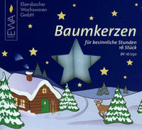 16 White 14mm German Christmas Tree Candles