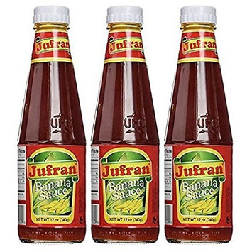 Jufran Banana Sauce Bottles, 12 Oz