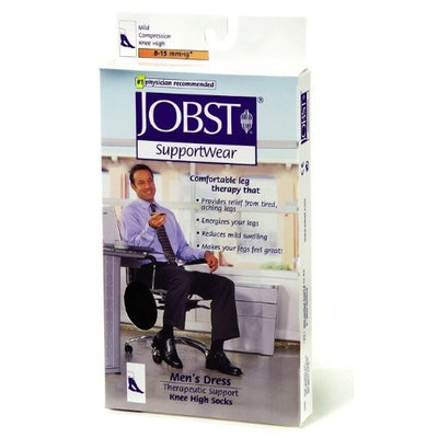 Jobst Dress - Business or Casual Wear for Men Mild Compression Over-the-Calf (Knee High) L Brown