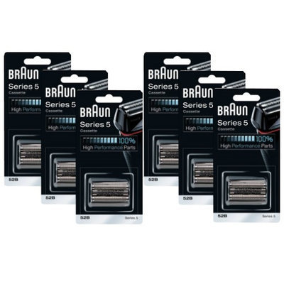 Braun 52B (6 Pack) Replacement Foil and Cutter Pack
