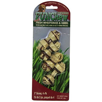 SPR RW-013278 Rawhide Bones with Wheatgrass for Dogs, 6-Pack