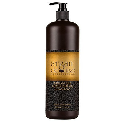 Argan Deluxe Professional Argan Oil Nourishing Shampoo, liter size (33.8 Oz.)