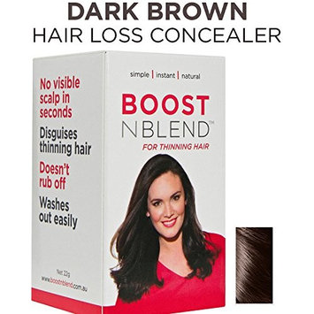 BOOSTnBLEND Dark Brown Hair Loss Scalp Concealer Hair thickening Fibers for women with thinning hair. Use as fill in powder, hair filler GET YOUR CONFDENCE BACK. Root coverup 22g/0.78oz