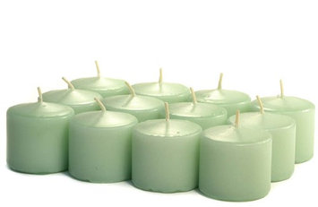 Usc 3 Boxes of Unscented Mint Green Votives 10 Hour Votive Candles Pack: 12 per box 1.5 in. diameter x 1.25 in. tall (Pack of 3)