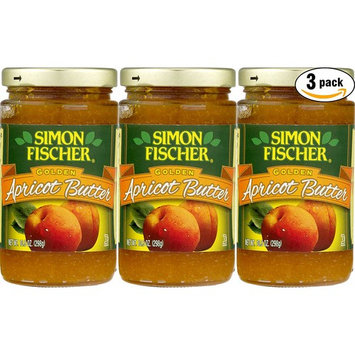 Simon Fischer Lekvar Apricot Butter - Fruit Butter, 10.5 oz Glass Jar, (Pack of 3, Total of 31.5 Oz)