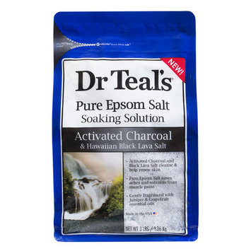 Dr Teal's® Activated Charcoal And Hawaiian Black Lava Salt Epsom Salt