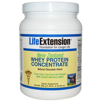 Life Extension, New Zealand Whey Protein Concentrate, Natural Chocolate Flavor, 23.28 oz (660 g) [Flavor : Natural Chocolate]
