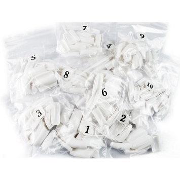 500pcs white false french for nail art tips uv acrylic 10 size fashion