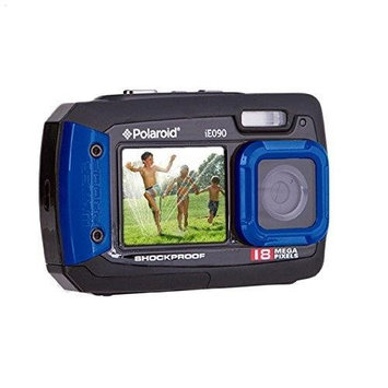 Polaroid IE090 18MP Dual Screen Underwater Camera - Blue.