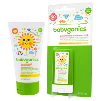Babyganics Sunscreen Stick with Mineral-Based Tube