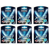 Wilkinson Sword Xtreme3, 4 Count Refill Razor Blades (Pack of 6) + FREE Curad Bandages 8 Ct.