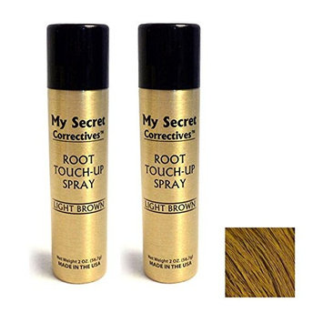 My Secret Correctives Root Touch-Up Spray Light Brown (2 Pack)