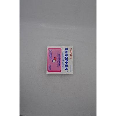 Major Pharmaceuticals MAJOR BANOPHEN 25MG CAP DIPHENHYDRAMINE HYDROCHLORIDE-25 MG Pink/White 24 CAPS UPC