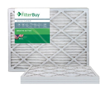 AFB Platinum MERV 13 24x25x1 Pleated AC Furnace Air Filter. Filters. 100% produced in the USA. (Pack of 4)