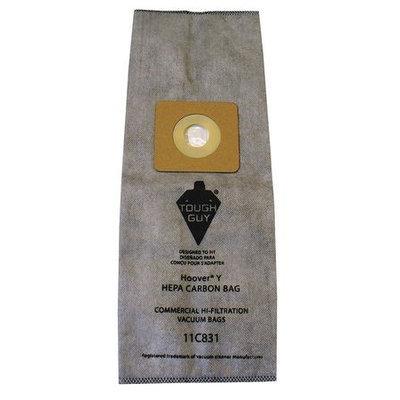 TOUGH GUY 11C831 Filter Bag,6-Ply, Composite, PK3