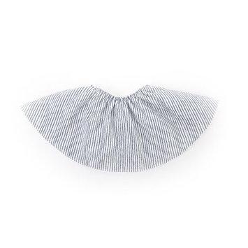 Perry Mackin Organic Cotton Round Bib Blue Stripe