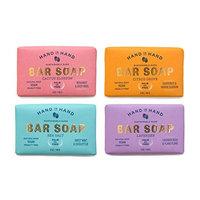 4 Pack Assorted Natural Vegan Palm Oil Free Bar Soap Set
