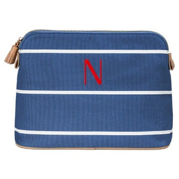 Cathy's Concepts Personalized Blue Striped Cosmetic Bag