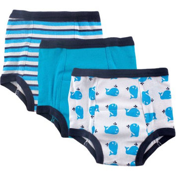 Baby Vision Luvable Friends 3 Pack Water Resistant Training Pants - Whale (2T)