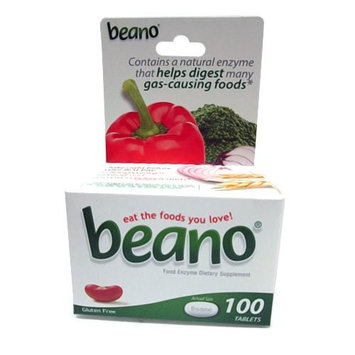6 Pack - Beano Food Enzyme Dietary Supplement, Tablets, 100 Each