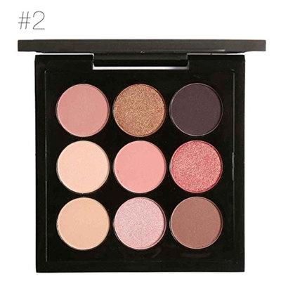Xuanhemen FOCALLURE 9 Colors Glitter Eyeshadow Palette Shimmer Matte Art Palette Shade Makeup Metallic Eyeshadow