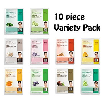 10pc Variety Dermal Korea Collagen Essence Full Face Facial Mask Sheets